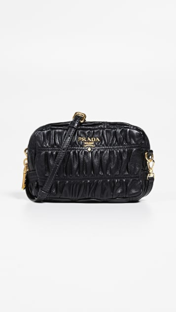 b13004c7527522 What Goes Around Comes Around Prada Black Nappa Gaufre Mini Bag ...
