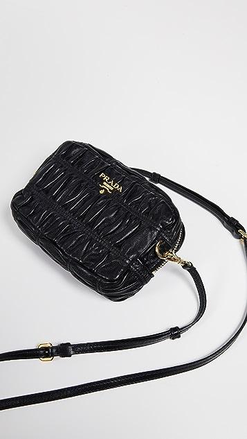 a6c70109a45f ... What Goes Around Comes Around Prada Black Nappa Gaufre Mini Bag ...