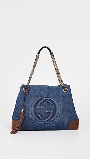 9a6bbe7f3b1a What Goes Around Comes Around Gucci Denim Soho Shoulder Bag