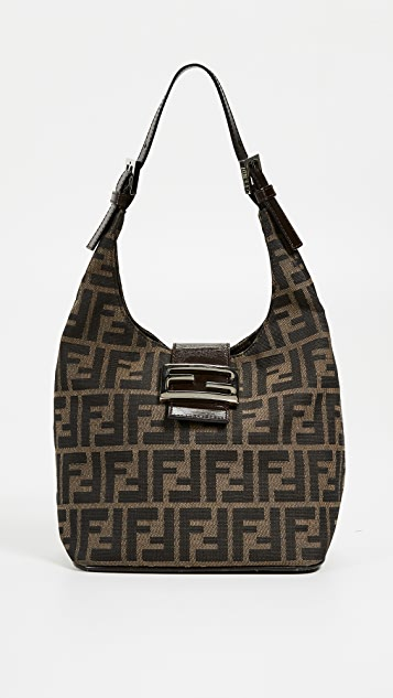 8c4fbde4dcbd What Goes Around Comes Around Fendi Brown Zucca Hobo Bag