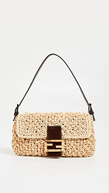 02135879ea0a What Goes Around Comes Around Fendi Beige Straw Baguette Bag