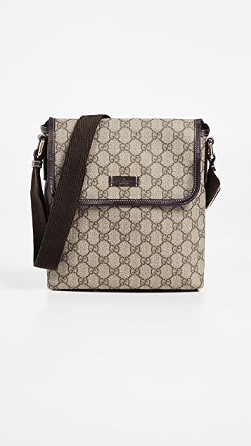 9e33b46b5224 What Goes Around Comes Around Gucci Coated Canvas Messenger Bag ...
