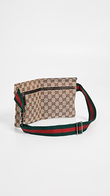 What Goes Around Comes Around Холщовая поясная сумка Gucci