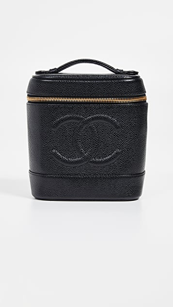 953f9898cd8126 What Goes Around Comes Around Chanel Black Caviar Vanity Bag | SHOPBOP