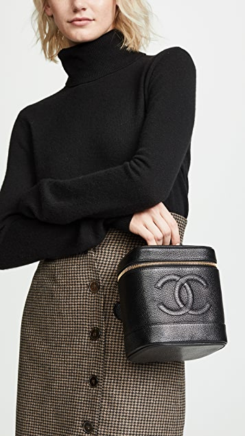 What Goes Around Comes Around Chanel Black Caviar Vanity Bag