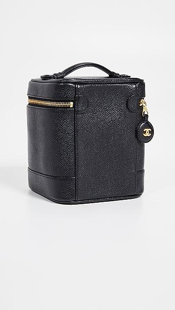 What Goes Around Comes Around Chanel Black Caviar Vanity Bag