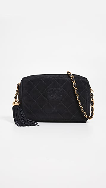 53cfdd05408d4f What Goes Around Comes Around Chanel Suede Diamond CC Bag | SHOPBOP