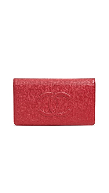 What Goes Around Comes Around Chanel Caviar Long Wallet