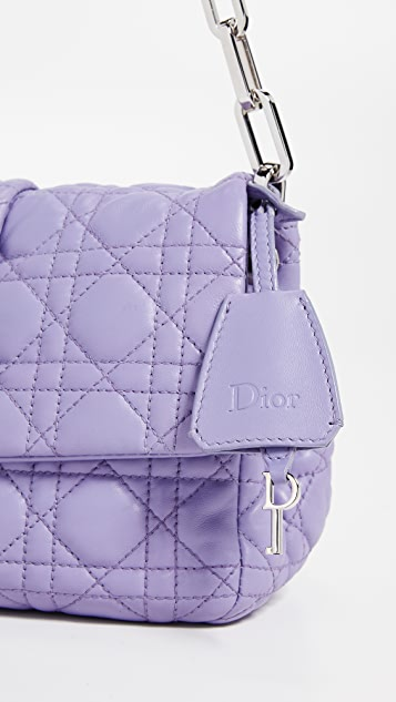 What Goes Around Comes Around Сумка Dior Purple New из кожи ягненка с замком