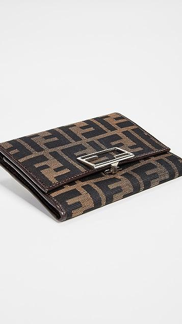What Goes Around Comes Around Fendi Brown Zucca Wallet