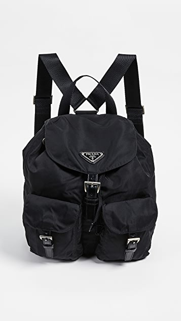 7423ae36f403a6 What Goes Around Comes Around Prada Black Nylon Backpack | SHOPBOP