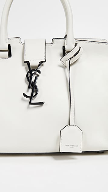 ... What Goes Around Comes Around YSL White Leather Baby Cabas Bag ... 36ba9a8bfbc4e