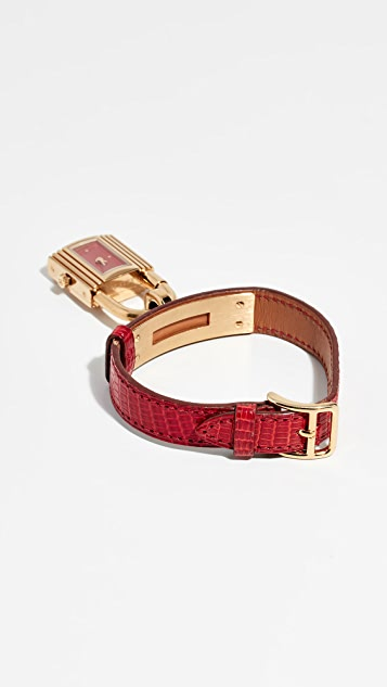 What Goes Around Comes Around Hermes Lizard Kelly Watch