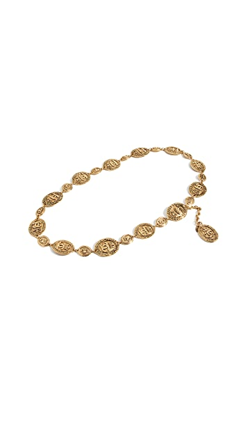 What Goes Around Comes Around Chanel Crown Chain Belt