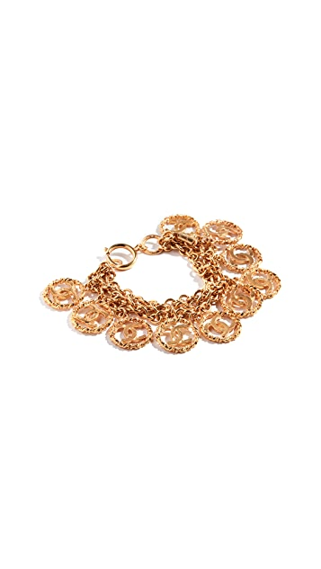 What Goes Around Comes Around Chanel 3 Tier CC Twist Bracelet