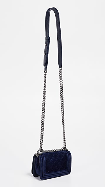 c0188fd5f841 What Goes Around Comes Around Chanel Velvet Mini Boy Bag   SHOPBOP