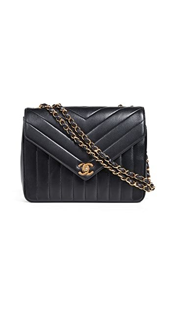 What Goes Around Comes Around Chanel Chevron Envelope 9