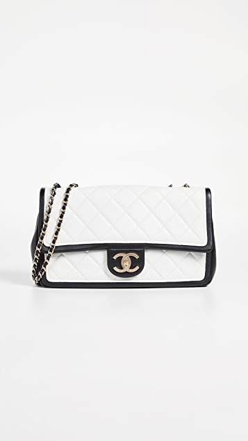 73a1dc4bbf77 What Goes Around Comes Around Chanel Graphic Medium Flap Bag | SHOPBOP