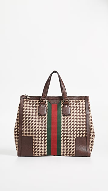 8a0b01e2d2d What Goes Around Comes Around Gucci Houndstooth 70s Web Tote