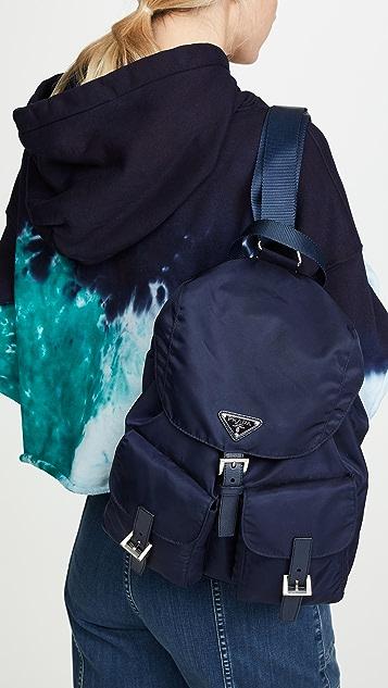 What Goes Around Comes Around Нейлоновый рюкзак Prada среднего размера