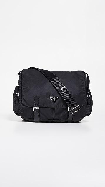 dc2997f13d87 What Goes Around Comes Around Prada Nylon Messenger Bag | SHOPBOP