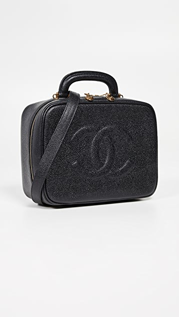 What Goes Around Comes Around Chanel Black Caviar Lunchbox Vanity