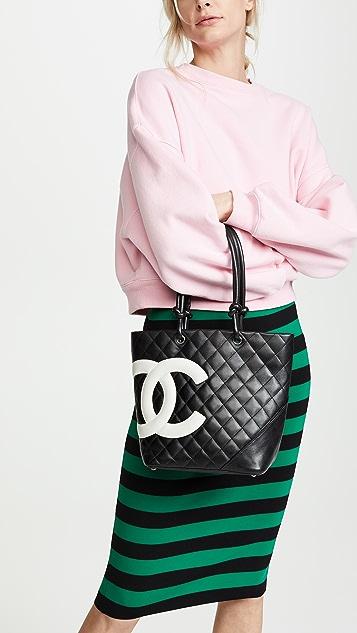 What Goes Around Comes Around Chanel Black Calf Cambon Medium Tote