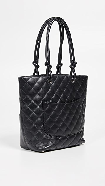 What Goes Around Comes Around Chanel Black Calf Cambon Medium Tote