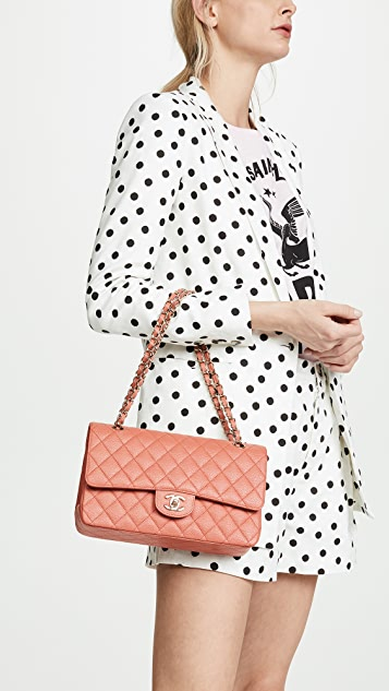 What Goes Around Comes Around Chanel Pink Caviar Shoulder Bag