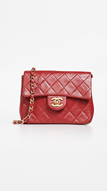 What Goes Around Comes Around Chanel Red Lambskin Mini Bag