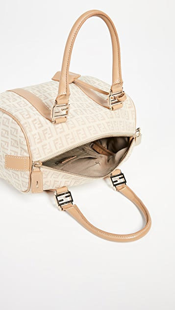 What Goes Around Comes Around Fendi Beige Small Boston Bag