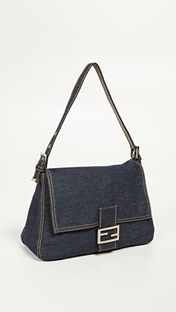 What Goes Around Comes Around Fendi Blue Denim Mamma Bag