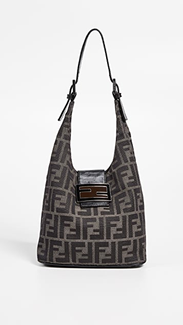 What Goes Around Comes Around Fendi Brown Zucchino Small Shoulder Bag