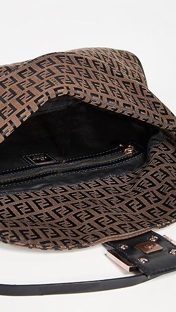 What Goes Around Comes Around Fendi Brown Zucchino Mamma Bag
