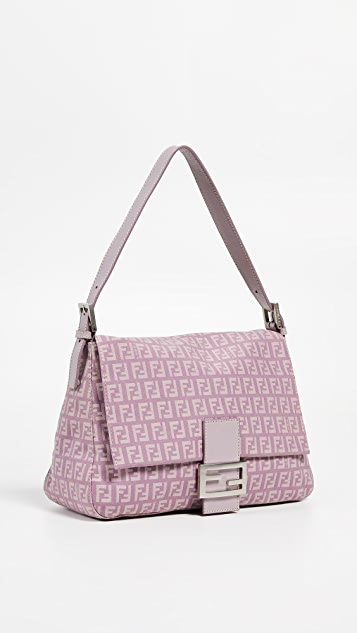 What Goes Around Comes Around Fendi Purple Zucchino Mama Bag