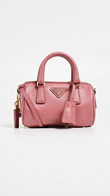 What Goes Around Comes Around Prada Pink Saffiano Mini Duffle bag