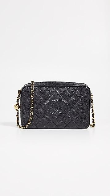 3a3f0ad6a94f49 What Goes Around Comes Around Chanel Caviar Diamond CC Camera Bag ...
