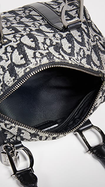 What Goes Around Comes Around Миниатюрная холщовая сумка Boston от Dior