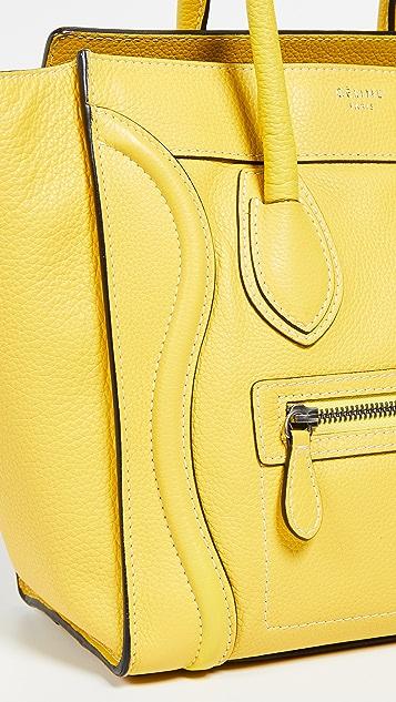 What Goes Around Comes Around Celine Yellow Medium Luggage Micro Bag