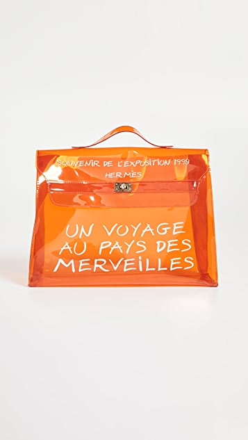 What Goes Around Comes Around Hermes Vinyl Kelly Bag
