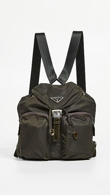 What Goes Around Comes Around Зеленый нейлоновый рюкзак Prada