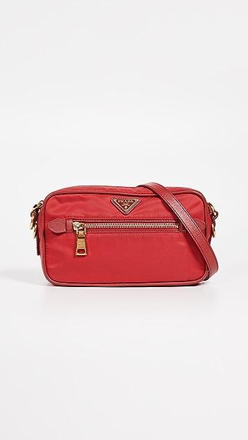 What Goes Around Comes Around Prada Tessuto Mini Shoulder Bag