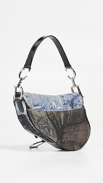 What Goes Around Comes Around Маленькая разноцветная холщовая сумка Speedway от Dior