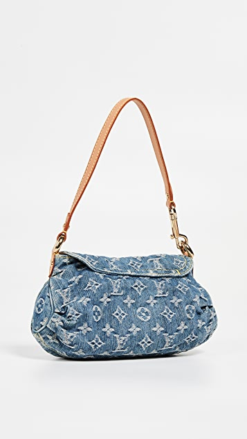 What Goes Around Comes Around Сумка Louis Vuitton из голубого денима со складками