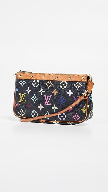 What Goes Around Comes Around Черная сумочка Louis Vuitton с разноцветным рисунком