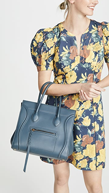 What Goes Around Comes Around Celine Blue Medium Phantom Bag