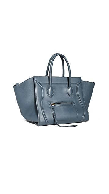 What Goes Around Comes Around Celine Blue Medium Phantom Bag