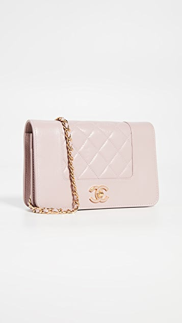 What Goes Around Comes Around Chanel Pink Wallet on a Chain