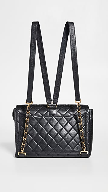 What Goes Around Comes Around Chanel Black 2.55 Jumbo Backpack