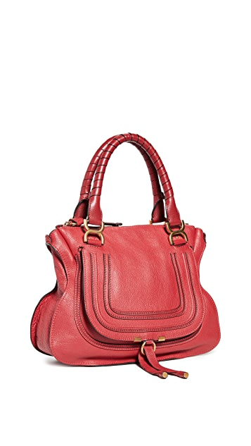 What Goes Around Comes Around Chloe Red Medium Marcie Bag
